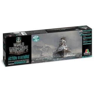 Model Kit World of Warships 46501 - GERMAN BATTLESHIP BISMARCK (1:700)