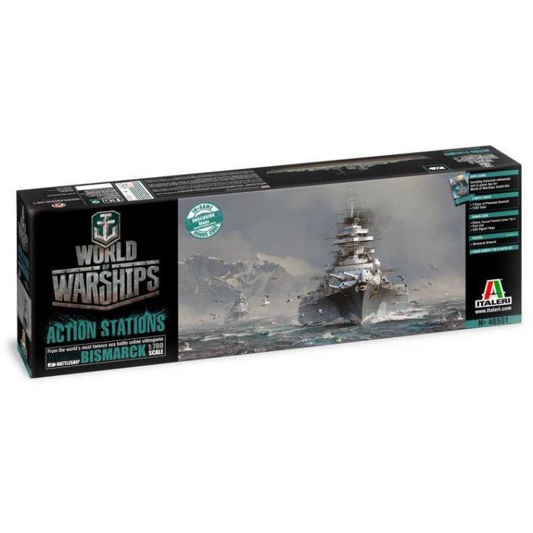 Model Kit World of Warships 46501 - GERMAN BATTLESHIP BISMARCK (1:700)