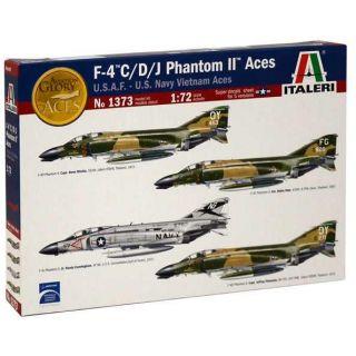 Model Kit letadlo 1373 - F-4 C/D/J PHANTOM II ACES USAF-US Navy Vietnam ACES (1:72)