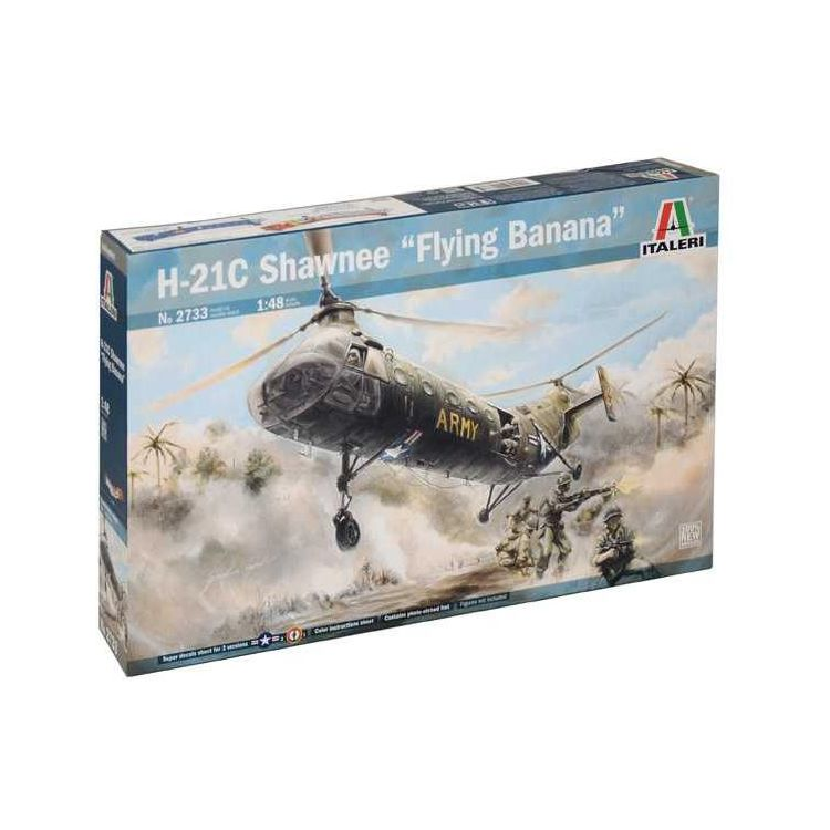 """Model Kit vrtulník 2733 - H-21C Shawnee """"Flying Banana"""" (1:48)"""
