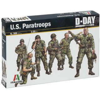 Model Kit figurky 0309 - U.S. PARATROOPS (1:35)