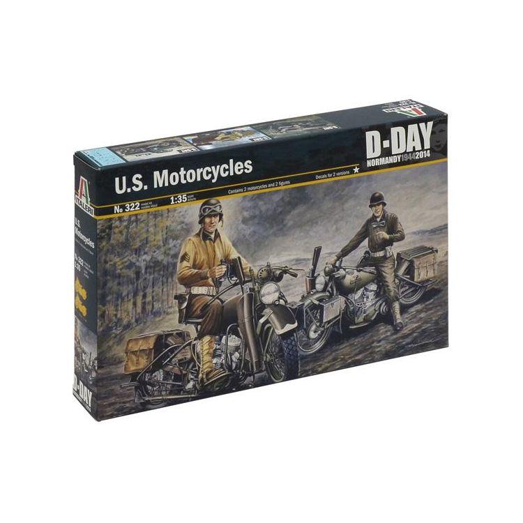 Model Kit military 0322 - U.S. MOTORCYCLES WW2 (1:35)