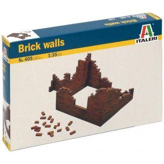 Model Kit budova 0405 - BRICK WALLS (1:35)