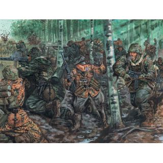 Model Kit figurky 6068 - WWII -GERMAN ELITE TROOPS (1:72)