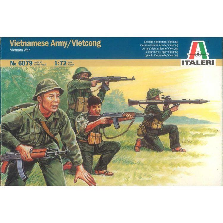 Model Kit figurky 6079 - VIETNAM WAR - VIETNAMESE ARMY / VIETCONG (1:72)