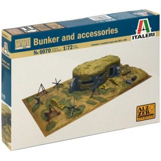 Model Kit diorama 6070 - WWII - BUNKER AND ACCESSORIES (1:72)