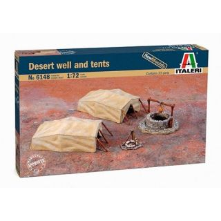 Model Kit doplňky 6148 - Desert Well and Tents (1:72)