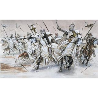 Model Kit figurky 6019 - TEUTONIC KNIGHTS (MEDIAVAL ERA) (1:72)