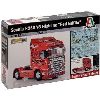 """Model Kit truck 3882 - SCANIA R560 V8 HIGHLINE """"RED GRIFFIN"""" (1:24)"""