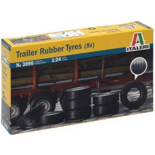 Model Kit doplňky 3890 - TRAILER RUBBER TYRES (8x) (1:24)