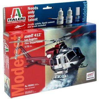 Model Set vrtulník 70391 - BELL 412 LAFD (1:72)
