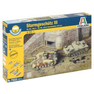 Fast Assembly tanky 7522 - STURMGESCHUTZ III (1:72)