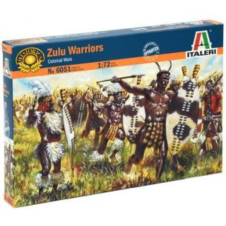 Model Kit figurky 6051 - ZULU WARRIORS (ZULU WAR) (1:72)