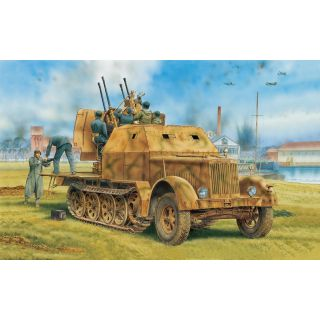 Model Kit military 6533 - Sd.Kfz.7/1 2cm Flakvierling 38 w/Armor Cab (2 in 1) (1:35)