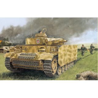 Model Kit tank 7407 - PZ.KPFW.III AUSF.N W/SIDE-SKIRT ARMOR (1:72)