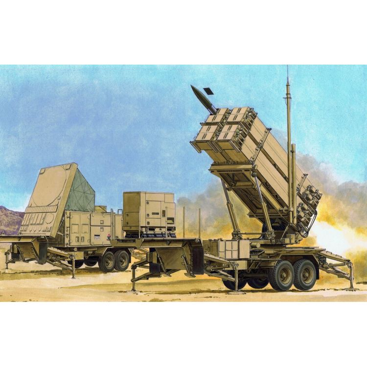 Model Kit military 3563 - MIM-104F PATRIOT SURFACE-TO-AIR MISSILE (SAM) SYSTEM (PAC-3) (1:35)
