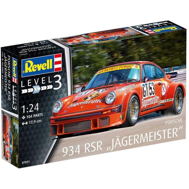 """Plastic ModelKit auto 07031 - Porsche 934 RSR """"Jägermeister"""" (1:24)"""