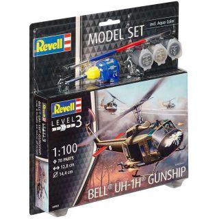 ModelSet vrtulník 64983 - Bell UH-1H Gunship (1:100)