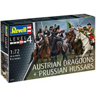 Plastic ModelKit figurky 02453 - Seven Years War (Austrian Draggons & Prussian Hussars) (1:72)