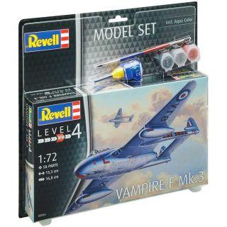 ModelSet letadlo 63934 -  Vampire F Mk.3 (1:72)
