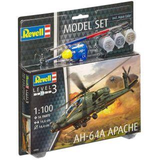 ModelSet vrtulník 64985 -  AH-64A Apache (1:100)