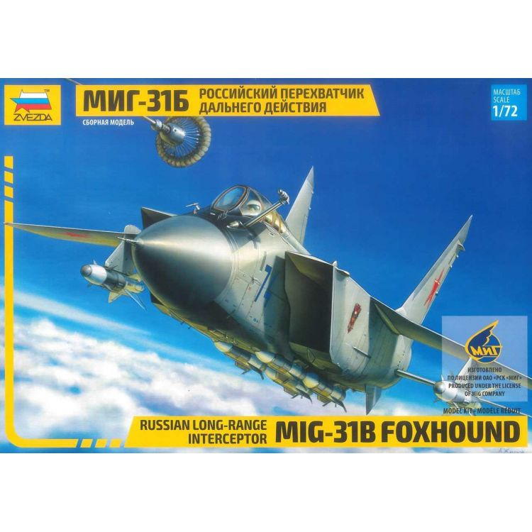 Model Kit letadlo 7244 - MIG-31B FOXHOUND (re-release) (1:72)