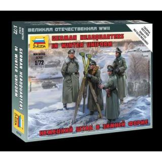 Wargames (WWII) figurky 6232 - German Headquarters in winter uniform (1:72)
