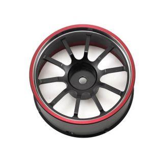 M12/M12S hlinikový volant černo/červený