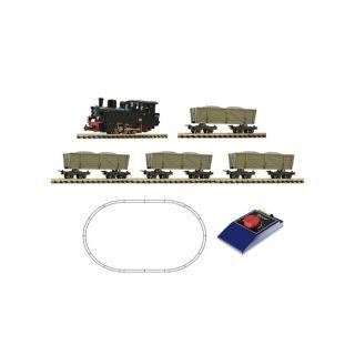 Štartset parnej lokomotívy s nákladom dreva