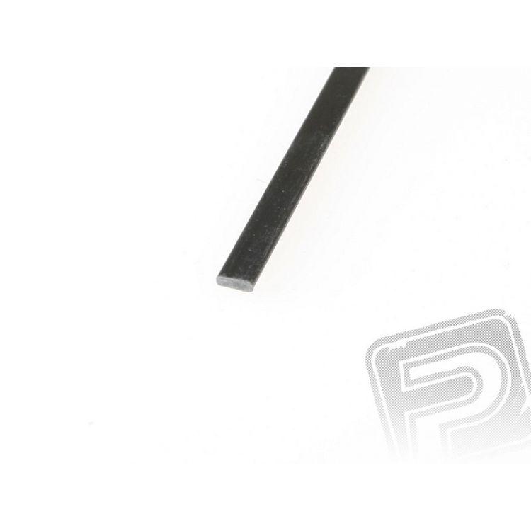 Uhlíková pásnice 1x4mm 1m