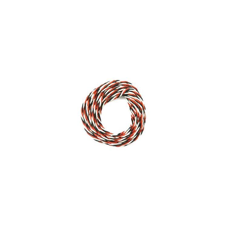 Kabel třížilový silikonový kroucený tlustý FU 0.35mm2