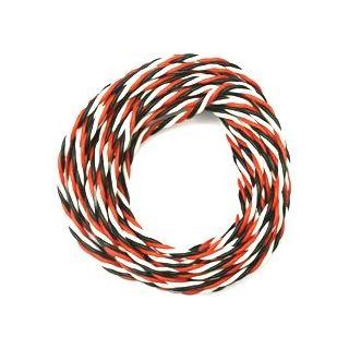 Kabel třížilový silikonový kroucený tlustý FU 0.5mm2