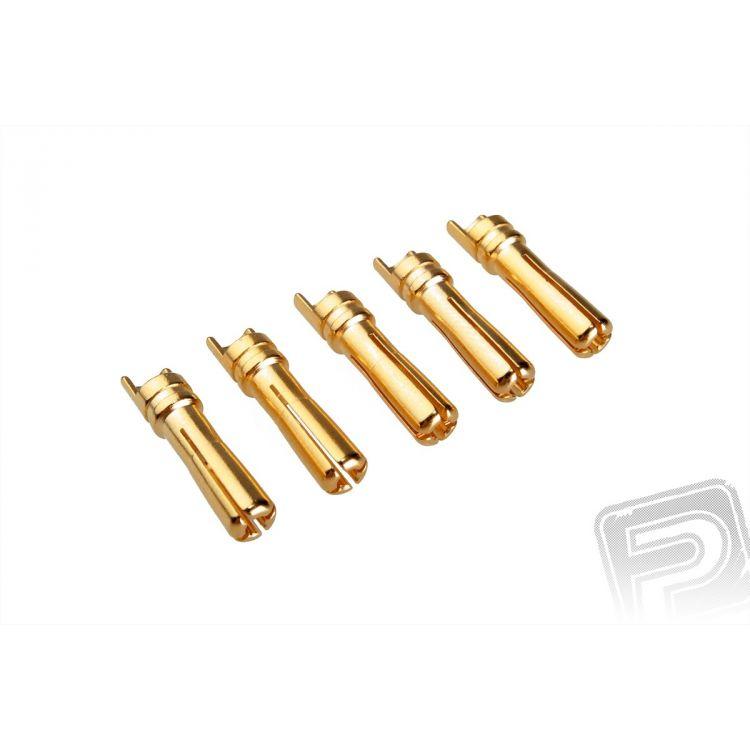 7947/5 G4.0mm pružinový konektor zlatý 5 ks (samec)