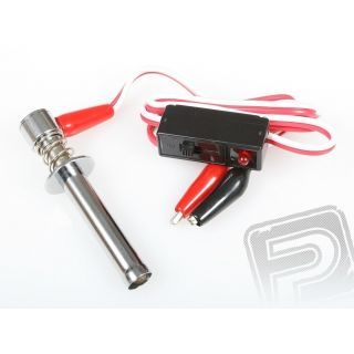 384-1 žhavící trubka dlouhá s LED