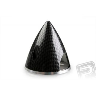 Profi kužeľ 51mm čierny (imitácia carbon)