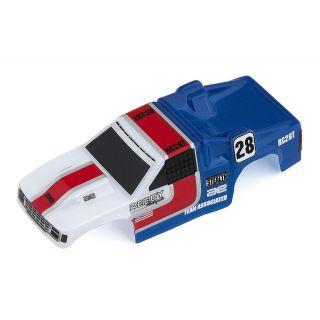 MT28 lakovaná karoserie, modro/bílá