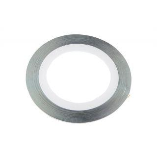 Ozdobná páska strieborná 1 mm