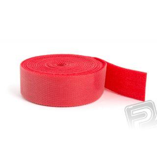 Suchý zip oboustranný 2M x 20mm - červený
