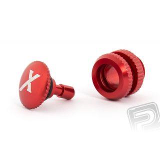 Tankovací ventil (X logo), červený