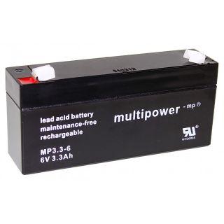 Pb akumulátor MULTIPOWER 6V/3,2Ah
