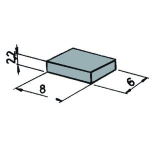 Magnety na podvozok vozidiel 6x8x2,2 cm (pre magn. kontakt) 6ks