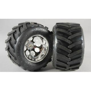 Monster Truck nalepené gumy, S směs, 14mm, 2ks.