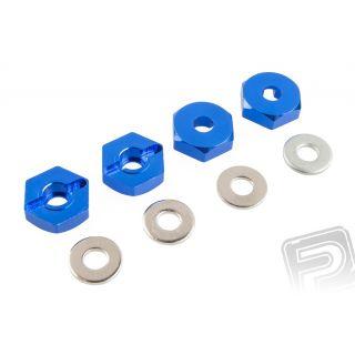 Unášače kolies - ALU, (modré), 4ks. 102042