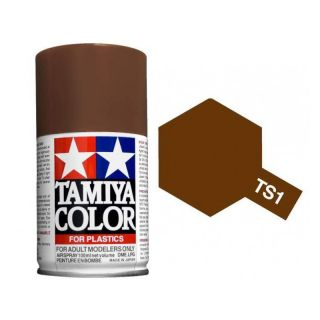 Tamiya Color TS 1 Red Brown Spray 100ml