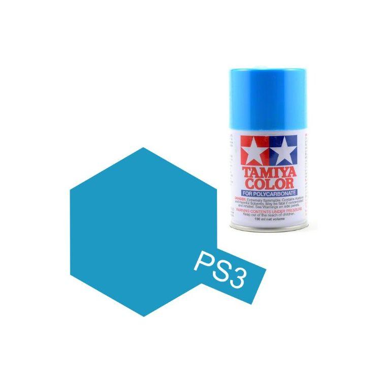 Tamiya Color PS-3 Light Blue Polycarbonate Spray 100 ml