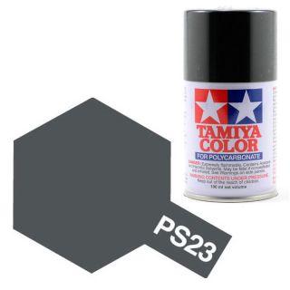 Tamiya Color PS-23 Gun Metal Grey Polycarbonate Spray 100ml