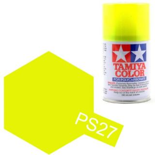 Tamiya Color PS-27 Flourescent Yellow Polycarbonate Spray 100ml