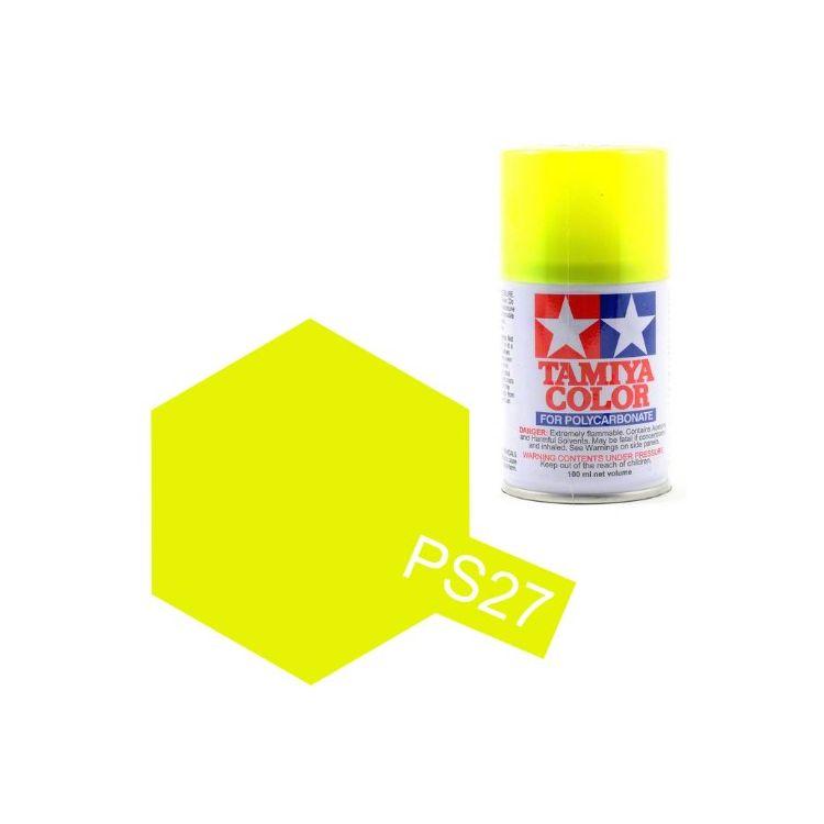 Tamiya Color PS-27 Flourescent Yellow Polycarbonate Spray 100ml