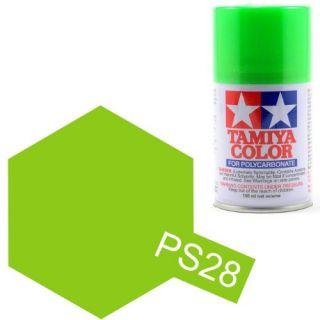 Tamiya Color PS-28 Flourescent Green Polycarbonate Spray 100ml