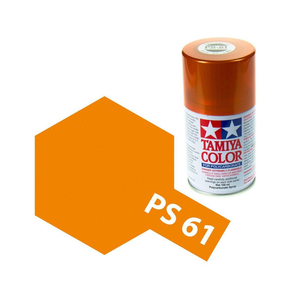 Tamiya Color Ps 61 Metallic Orange Polycarbonate Spray 100ml Rcsvet Sk